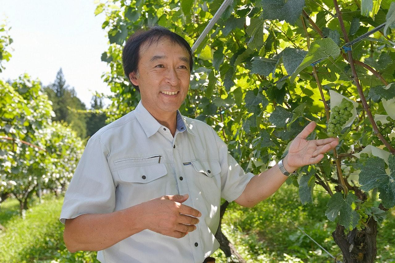 Vol.14 信州まし野ワイン<br />宮沢 喜好さん<br /><br />南アルプスをのぞむ<br />りんご畑のなかの小さなワイナリー