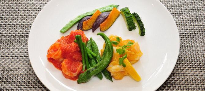 Vol.17 赤と黄色トマトのエビチリソース