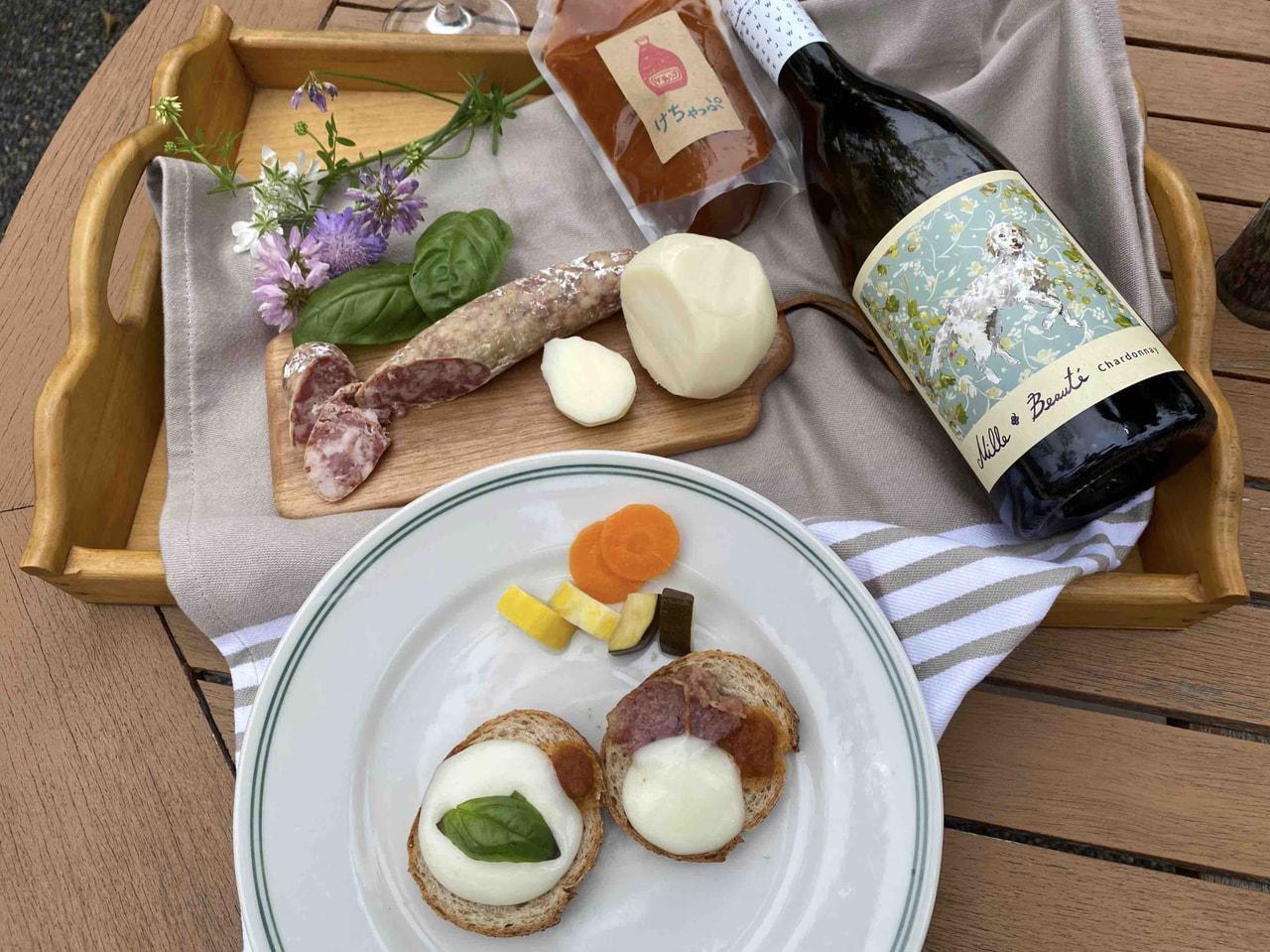 東御ワインチャペルより、ワインと食品の宅配「夏のブランチ編」のご案内